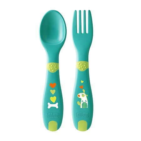 Набор приборов Chicco First Cutlery ложка+вилка с 12месяцев 340624051