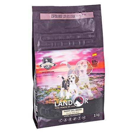 Корм для щенков Landor утка с рисом 1кг