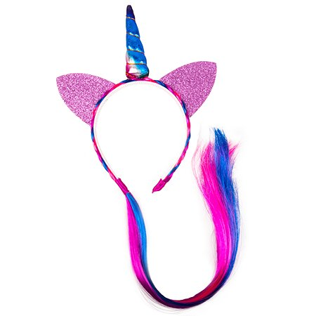 Ободок FRESH-TREND Единорог с розовой прядкой cw-7114