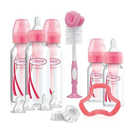 Набор бутылочек Dr Brown's антиколиковых 16 предметов Розовый SB05305