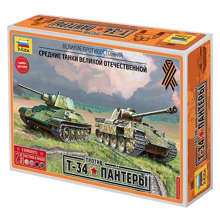 Танк Звезда Т-34 против Пантеры