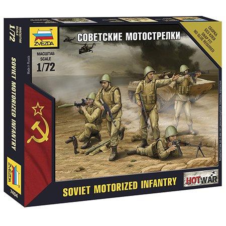 Модель для сборки Звезда Советские мотострелки
