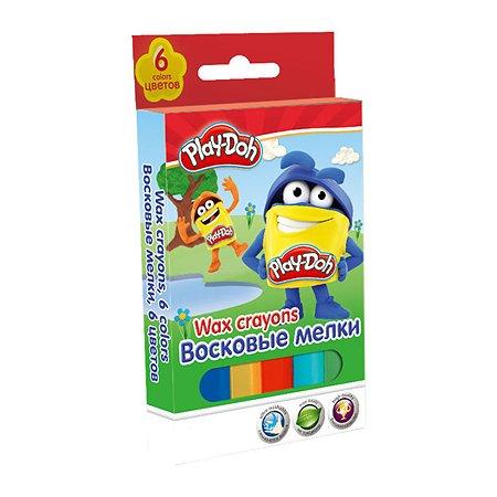 Мелки восковые Kinderline 6цв.Play-Doh