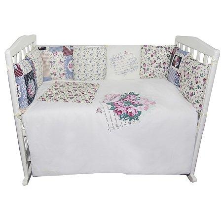 Комплект в кроватку Эдельвейс 6 пр. розовый