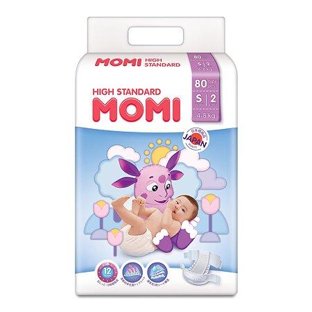Подгузники Momi S 4-8кг 80шт