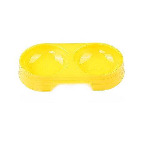 Миска для животных Uniglodis Двойная желтая Uniglodis