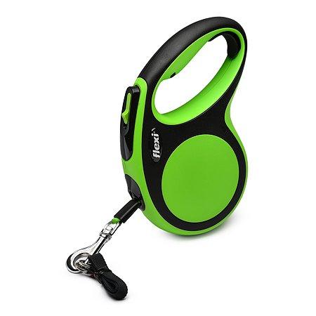 Рулетка Flexi New Comfort М лента 5м до 25кг Черный-Зеленый