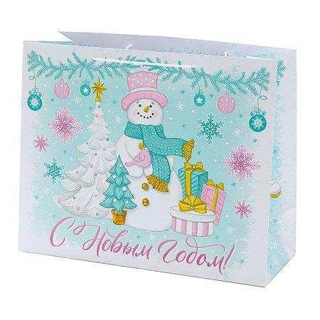 Пакет подарочный Феникс Презент Новый год 40.6*33*16см 250 г/м2 81116