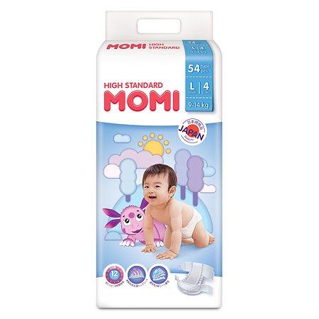 Подгузники Momi L 9-14кг 54шт