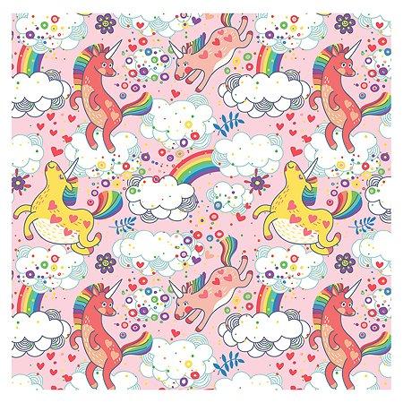Бумага упаковочная Magic Home Единорожки розовый 100х70 см