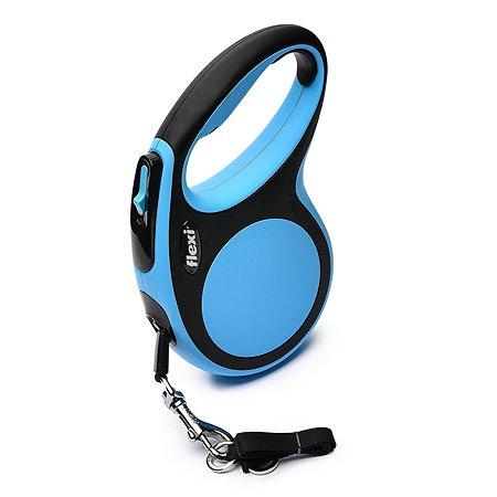 Рулетка Flexi New Comfort М лента 5 м до 25 кг Черный-Синий