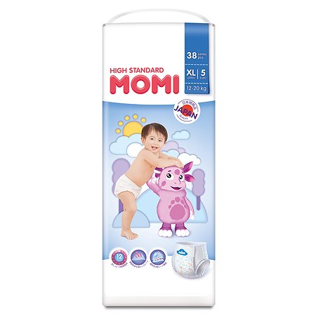 Подгузники-трусики Momi XL 12-20кг 38шт