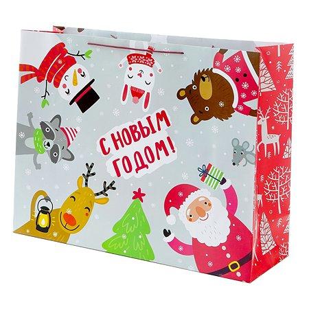 Пакет подарочный Феникс Презент Новый год 63*48.3*20см 250 г/м2 81124