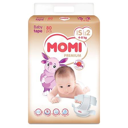 Подгузники Momi Premium S 4-8кг 80шт