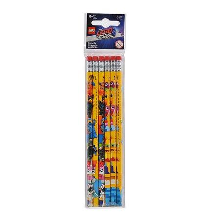 Карандаши чернографитные LEGO Movie2 6шт 52300