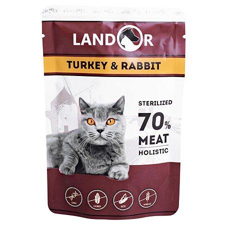 Корм для кошек Landor стерилизованных индейка с кроликом 85г