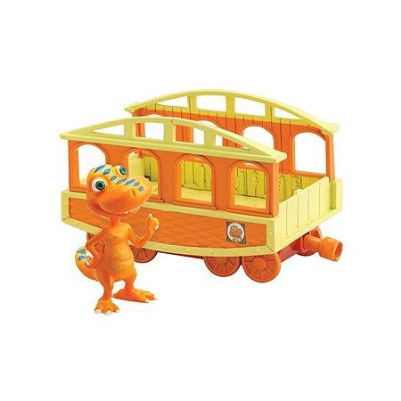 Игровой набор Поезд динозавров Бадди 6 см с вагончиком