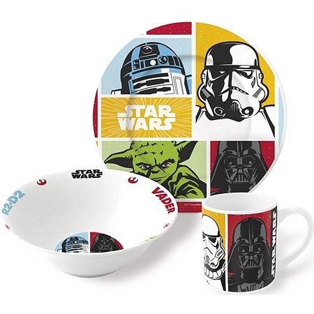 Набор керамической посуды STOR в подарочной упаковке Snack Set Star Wars (3 шт.)