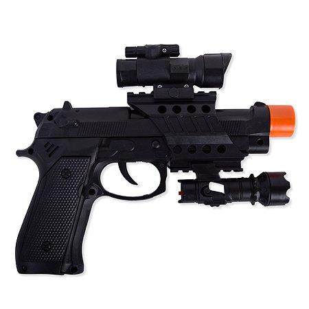 Пистолет Global Bros с глушителем и фонарем