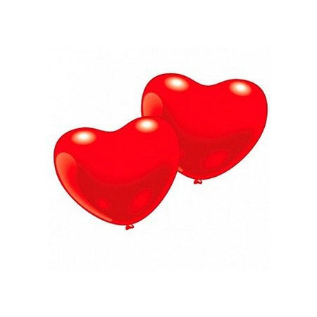Шарики 10шт EVERTS сердечко (красные)