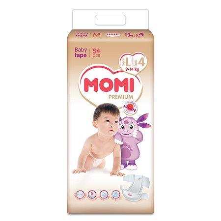 Подгузники Momi Premium L 9-14кг 54шт