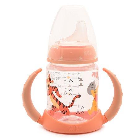 Бутылка обучающая Nuk First Choice Disney 150 мл Персиковая с вентилируемой силиконовой соской