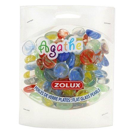 Декорация для аквариумов Zolux стеклянная Агат Мульти-цвет 430г
