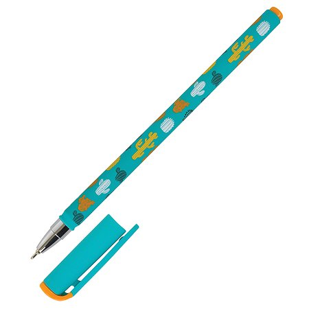 Ручка масляная Lorex Stationery Slim Soft Color Explosion Cactus Синий LXOPSS-CE2