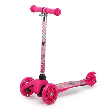 Самокат Kreiss Barbie 3колесный HF-TK002A-B1