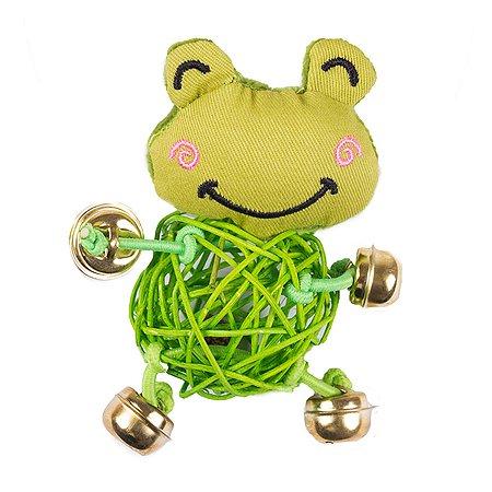 Игрушка для кошек Не один дома Frog с колокольчиком 860019-05GR1ro