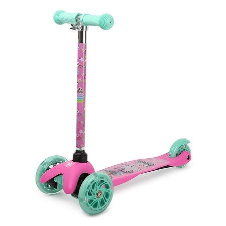 Самокат Kreiss Barbie 3колесный HF-TK002A-E