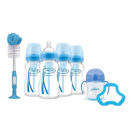 Набор бутылочек Dr Brown's антиколиковых с широким горлышком 9предметов Синий AC074