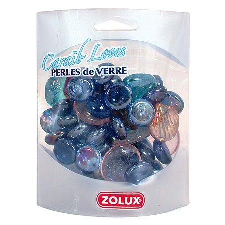 Декорация для аквариумов Zolux стеклянная Карибская любовь Фиолетовый микс 430г