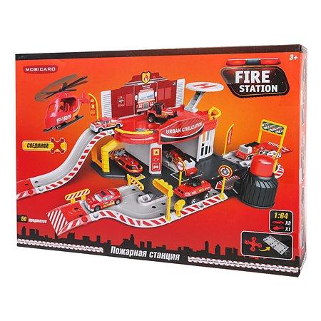 Игрушка Mobicaro Парковка Пожарная часть 50 деталей YS190236