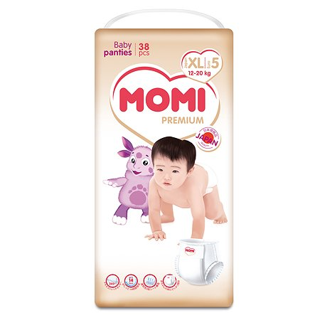 Подгузники-трусики Momi Premium XL 12-20кг 38шт