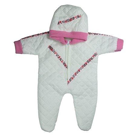 Одежда Модница Комбинезон прогулочный из синтепона с капюшоном для пупса 32-35 см с отделкой в ассортименте