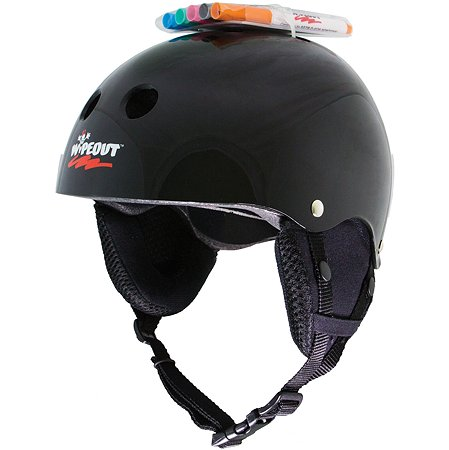 Шлем защитный WIPEOUT зимний с фломастерами Black. Размер L 8+ - Черный WIPEOUT