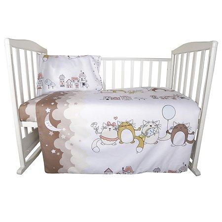 Комплект постельного белья Эдельвейс Котики 3предмета 10054