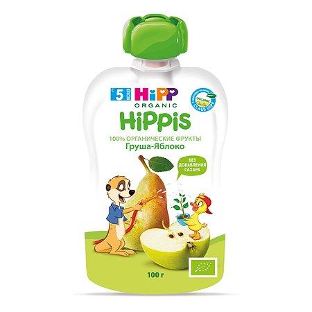 Пюре Hippis Hipp яблоко-груша 100 г с 5 месяцев пауч