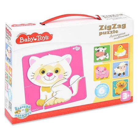 Пазл Десятое королевство Baby toys Домашние животные Зигзаг 02500