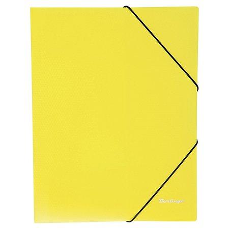 Папка на резинке BERLINGO Neon А4 Неоновая Желтая ANp_01803