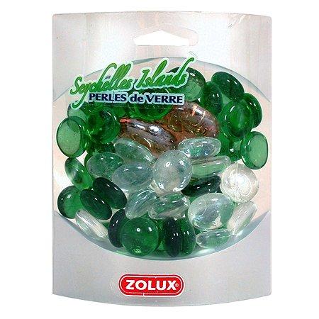 Декорация для аквариумов Zolux стеклянная Сейшельские острова Зеленый микс 430г