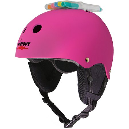 Шлем защитный WIPEOUT зимний с фломастерами Pink. Размер L 8+ - Розовый WIPEOUT