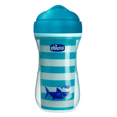 Поильник Chicco Active Cup Акула носик ободок 266мл с 14месяцев 340624132