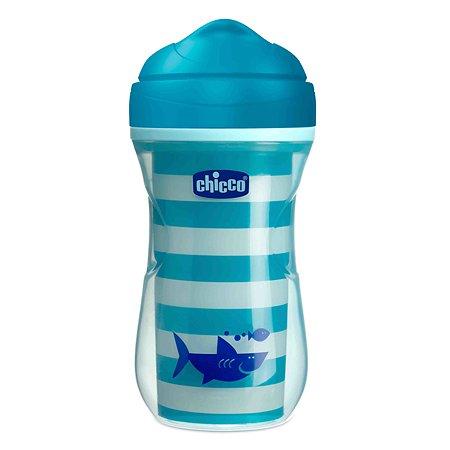 Поильник Chicco Active Cup Акула носик ободок 266мл с 14месяцев 340624132