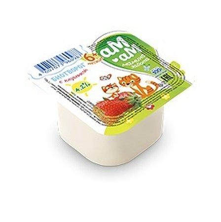 Биотворог Ам-Ам клубника 4.2% 100г 6 мес