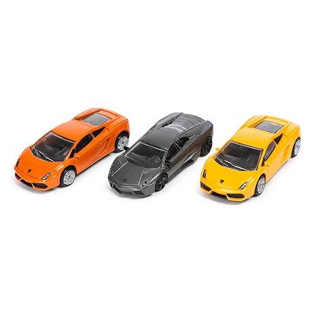 Набор машинок Rastar Lamborghini 1:60 1:64 Жёлтая/Оранжевая/Серая