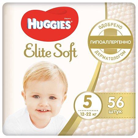 Подгузники Huggies Elite Soft 5 12-22кг 56шт