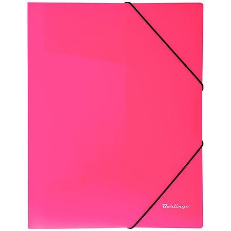 Папка на резинке BERLINGO Neon А4 Неоновая Розовая ANp_01813