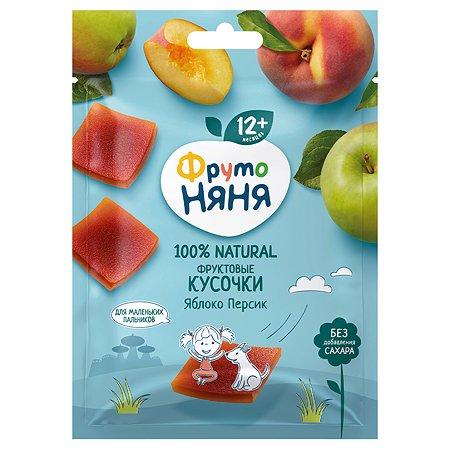 Кусочки фруктовые ФрутоНяня из яблок и персиков 53г с 12месяцев